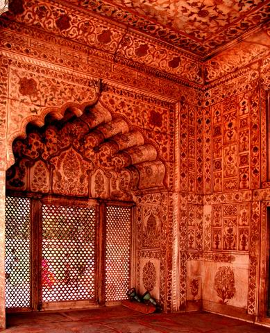 Red Fort Delhi, Inside architecture