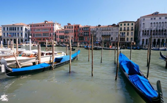 Grand Canal in Venice with gondolas