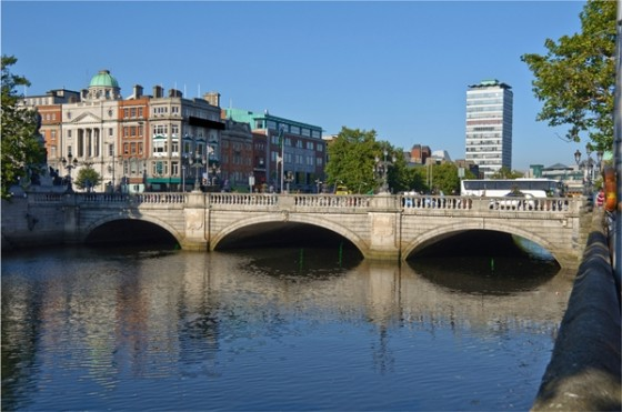 Dublin, oconnell bridge, dublin city centre