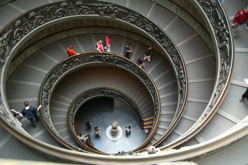 Rome Vatican A double spiral staircase
