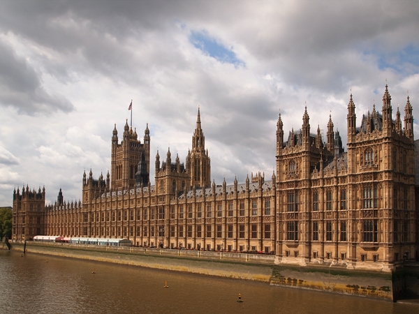 Houses of Parliament at the River Thames in London
